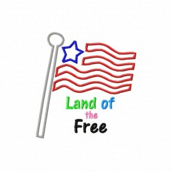 Flag Land of the Free-1