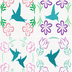 Hummingbird Quilt Blocks set